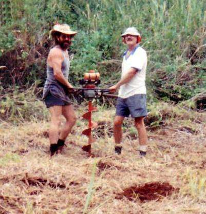 John Bryden & Phil Smith digging holes in '97